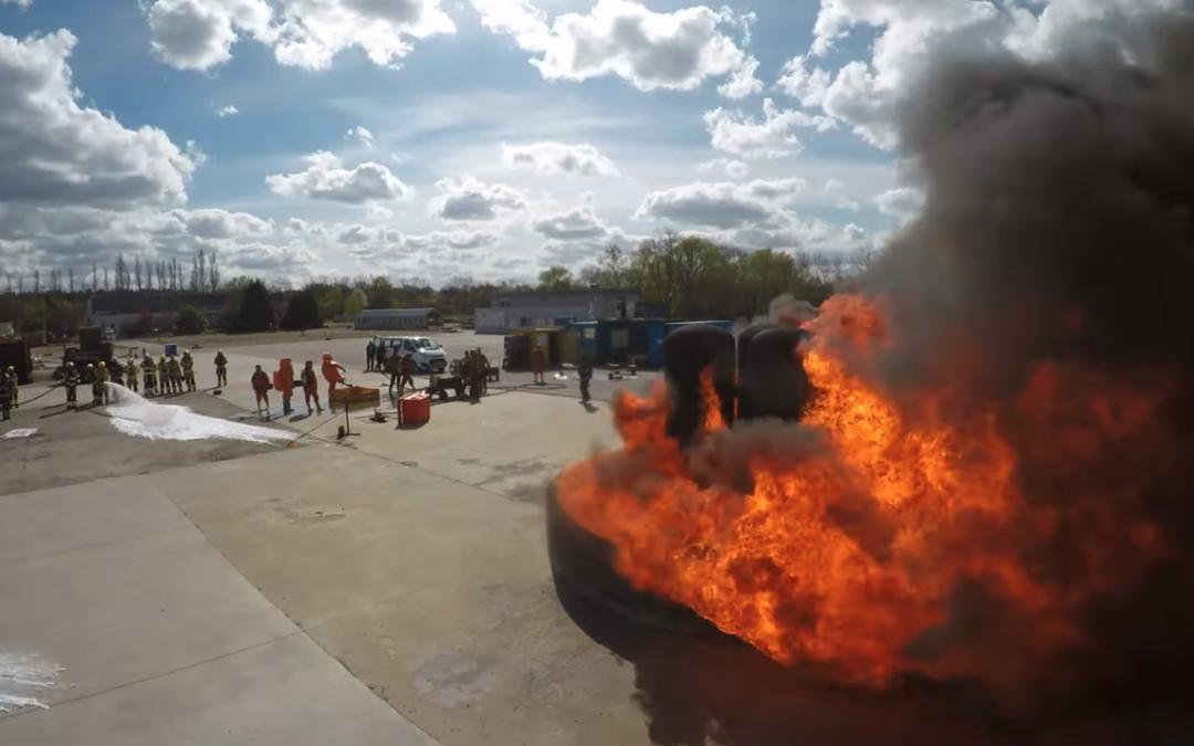Foamshool 2019 Feuerwehr Training in Vernon France